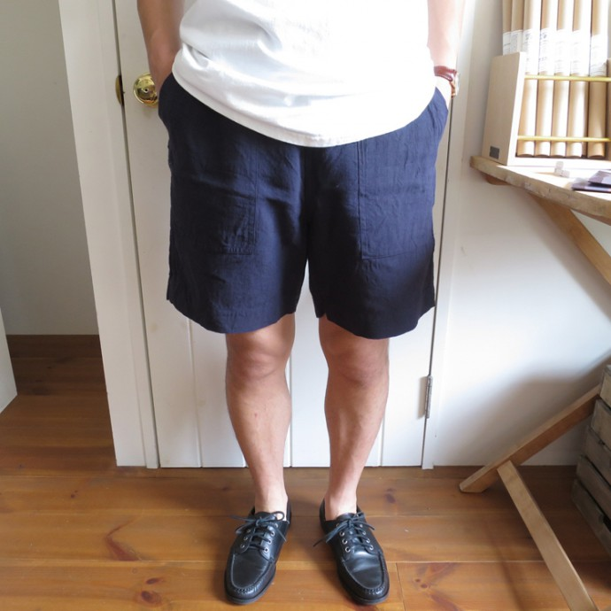 ENDS and MEANS Easy Baker Shorts / Linen エンズアンドミーンズ イージーベイカーショーツ リネン