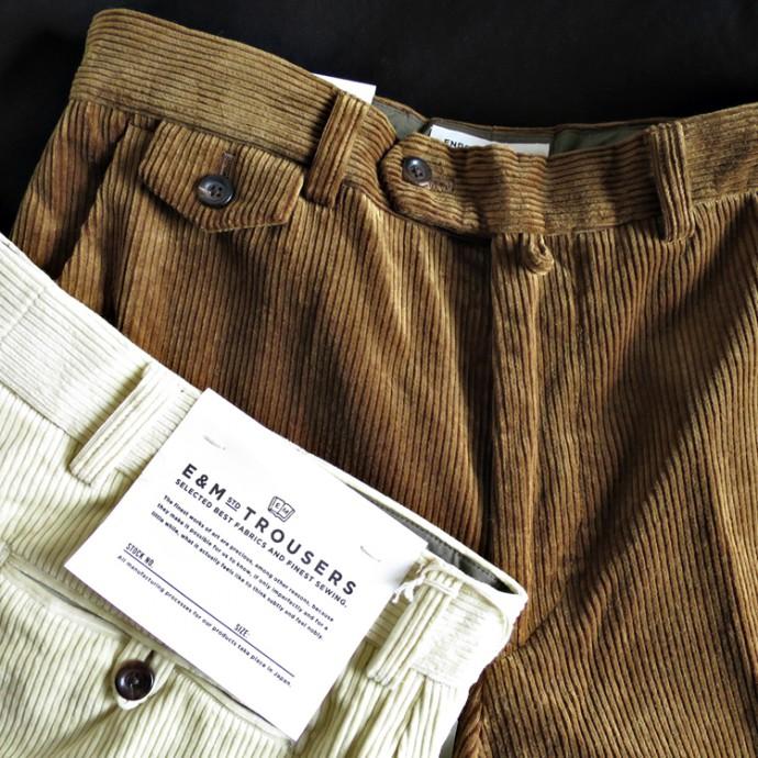 ENDS and MEANS Grandpa Cord Trousers / STANDARD LINE エンズアンドミーンズ グランパ コード トラウザー / スタンダードライン