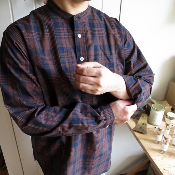 ENDS and MEANS Band Collar Pullover Shirts エンズアンドミーンズ バンドカラー プルオーバー シャツ
