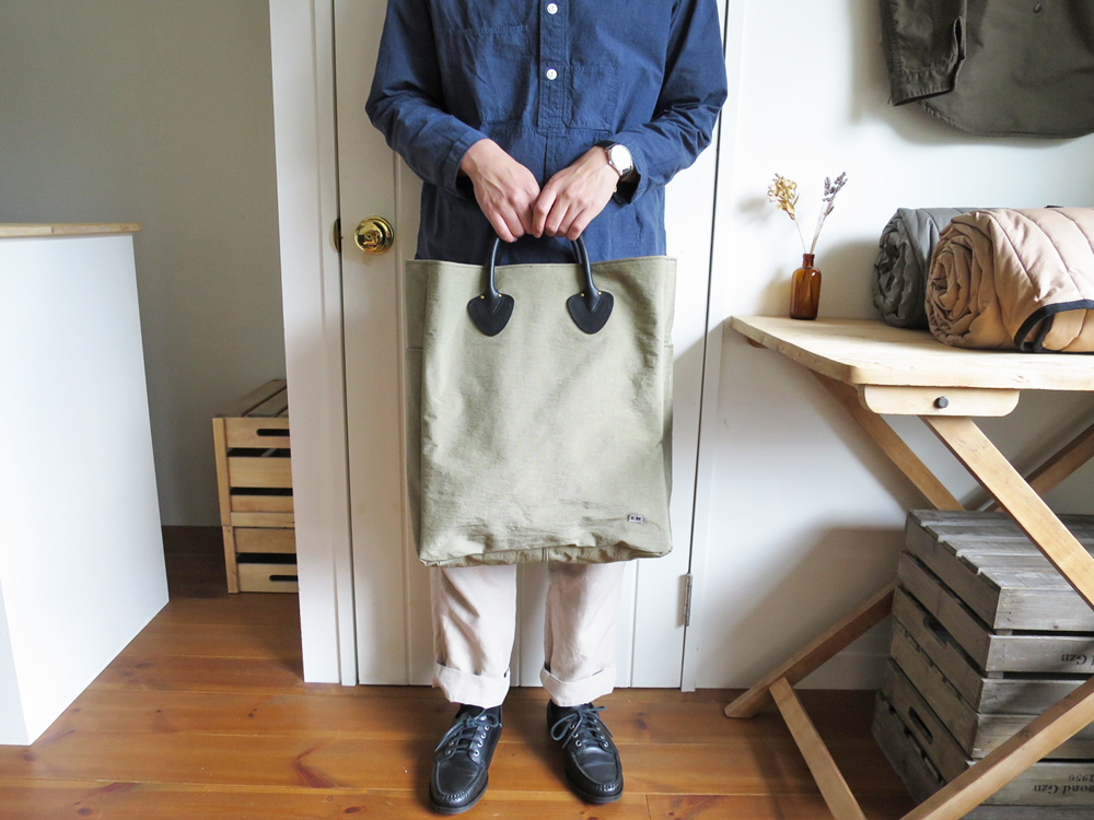 ENDS and MEANS Handle Bag / Nylon & Leather エンズアンドミーンズ ハンドルバッグ / トートバッグ