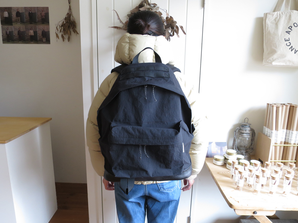 ENDS and MEANS Daytrip Back Pack / with Leather エンズアンドミーンズ デイトリップ バックパック リュック 底レザー