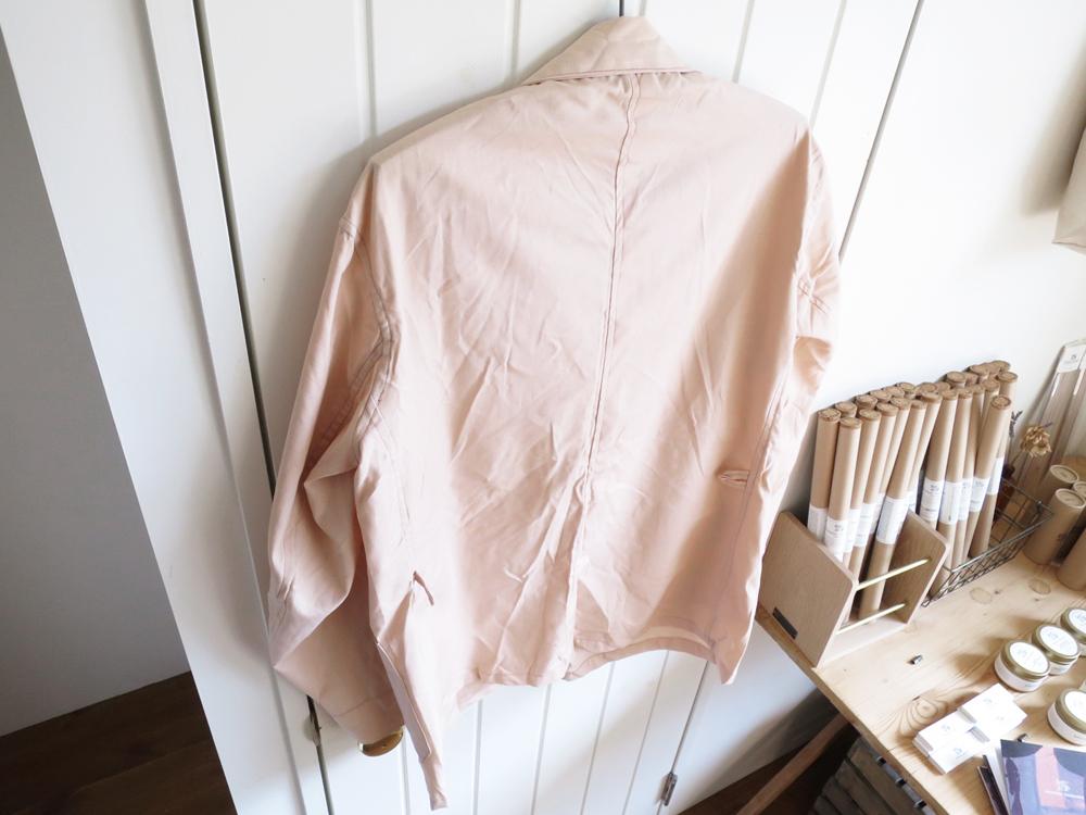 Greece Army / Hospital Jacket – Pink Beige Dead Stock ギリシャ軍 ホスピタルジャケット デッドストック ピンク ベージュ