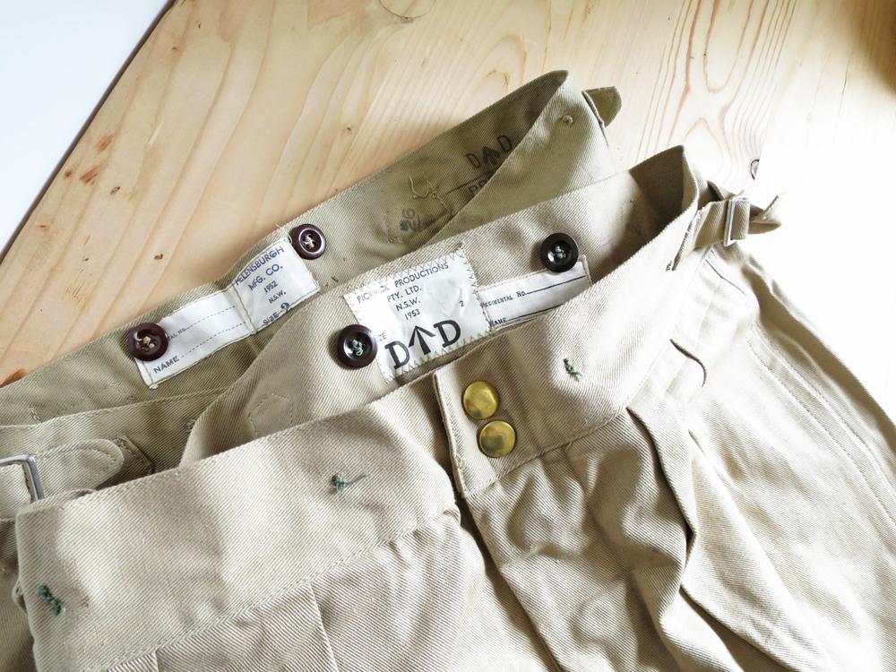 Australian Army / 50's Chino Shorts Dead Stock / Dead Stock オーストラリア軍  50年代 チノ ショーツ / デッドストック