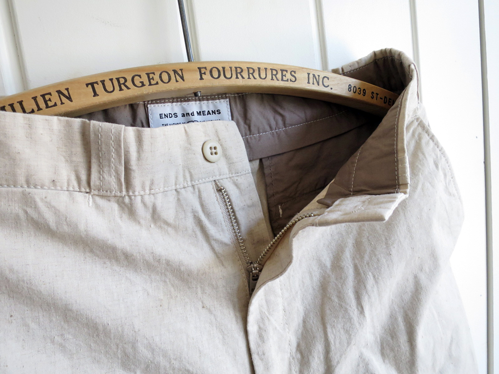 ENDS and MEANS Work Pants Cotton Linen エンズ アンド ミーンズ ワークパンツ コットン リネン