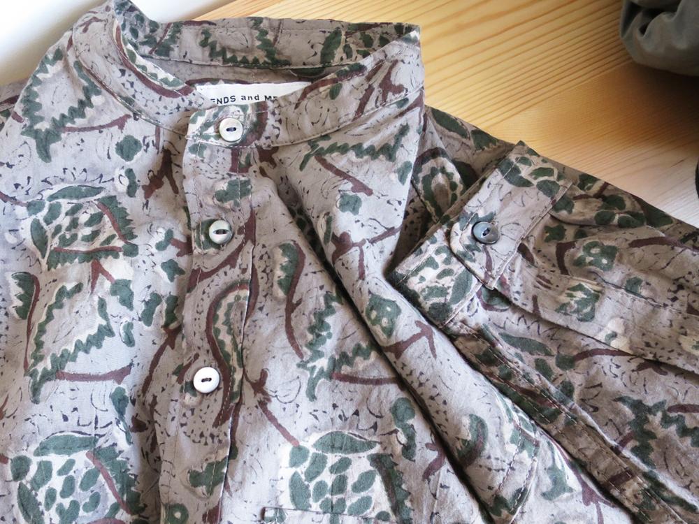 ENDS and MEANS Pullover Band Collar Shirts / Paisley エンズアンドミーンズ プルオーバー バンドカラー シャツ / ペイズリー 柄
